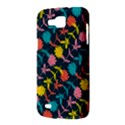 Colorful Floral Pattern Samsung Galaxy Premier I9260 Hardshell Case View3