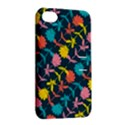 Colorful Floral Pattern Apple iPhone 4/4S Hardshell Case with Stand View2