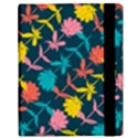 Colorful Floral Pattern Samsung Galaxy Tab 10.1  P7500 Flip Case View3