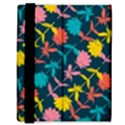 Colorful Floral Pattern Samsung Galaxy Tab 8.9  P7300 Flip Case View3