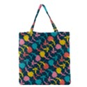 Colorful Floral Pattern Grocery Tote Bag View1