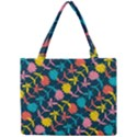 Colorful Floral Pattern Mini Tote Bag View1