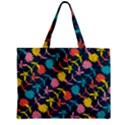 Colorful Floral Pattern Zipper Mini Tote Bag View1