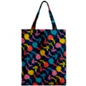 Colorful Floral Pattern Zipper Classic Tote Bag View1