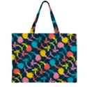 Colorful Floral Pattern Large Tote Bag View2