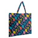 Colorful Floral Pattern Zipper Large Tote Bag View2