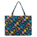 Colorful Floral Pattern Medium Tote Bag View1