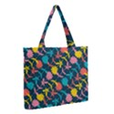 Colorful Floral Pattern Medium Tote Bag View2