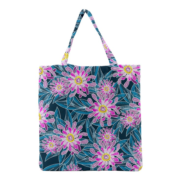 Whimsical Garden Grocery Tote Bag