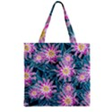 Whimsical Garden Zipper Grocery Tote Bag View1