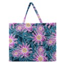 Whimsical Garden Zipper Large Tote Bag View1