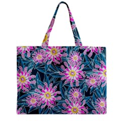Whimsical Garden Medium Zipper Tote Bag