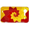 Flower Blossom Spiral Design  Red Yellow HTC Incredible S Hardshell Case  View1