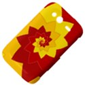 Flower Blossom Spiral Design  Red Yellow HTC Wildfire S A510e Hardshell Case View4