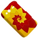 Flower Blossom Spiral Design  Red Yellow HTC Wildfire S A510e Hardshell Case View5