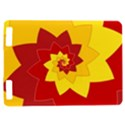 Flower Blossom Spiral Design  Red Yellow Kindle Touch 3G View1
