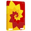 Flower Blossom Spiral Design  Red Yellow Kindle Touch 3G View2