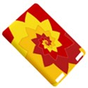 Flower Blossom Spiral Design  Red Yellow Kindle Touch 3G View5
