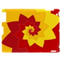 Flower Blossom Spiral Design  Red Yellow Apple iPad 2 Hardshell Case View1
