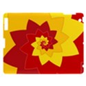 Flower Blossom Spiral Design  Red Yellow Apple iPad 3/4 Hardshell Case View1