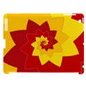 Flower Blossom Spiral Design  Red Yellow Apple iPad 3/4 Hardshell Case (Compatible with Smart Cover) View1