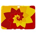 Flower Blossom Spiral Design  Red Yellow Samsung Galaxy Tab 8.9  P7300 Hardshell Case  View1