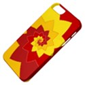 Flower Blossom Spiral Design  Red Yellow Apple iPhone 5 Classic Hardshell Case View4