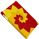 Flower Blossom Spiral Design  Red Yellow Apple iPad Mini Hardshell Case View5