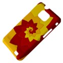 Flower Blossom Spiral Design  Red Yellow Samsung Galaxy S II i9100 Hardshell Case (PC+Silicone) View4