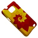 Flower Blossom Spiral Design  Red Yellow Samsung Galaxy S II i9100 Hardshell Case (PC+Silicone) View5