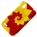 Flower Blossom Spiral Design  Red Yellow HTC Desire V (T328W) Hardshell Case View4