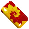 Flower Blossom Spiral Design  Red Yellow HTC Desire V (T328W) Hardshell Case View5