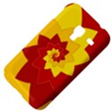 Flower Blossom Spiral Design  Red Yellow Samsung Galaxy Ace Plus S7500 Hardshell Case View4