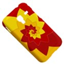 Flower Blossom Spiral Design  Red Yellow Samsung Galaxy Ace Plus S7500 Hardshell Case View5