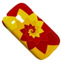Flower Blossom Spiral Design  Red Yellow Samsung Galaxy S3 MINI I8190 Hardshell Case View5
