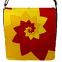 Flower Blossom Spiral Design  Red Yellow Flap Covers (S)  View1