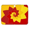 Flower Blossom Spiral Design  Red Yellow Samsung Galaxy Tab 3 (10.1 ) P5200 Hardshell Case  View1