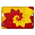 Flower Blossom Spiral Design  Red Yellow Amazon Kindle Fire HD (2013) Hardshell Case View1