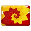 Flower Blossom Spiral Design  Red Yellow Kindle Fire HDX Hardshell Case View1