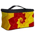 Flower Blossom Spiral Design  Red Yellow Cosmetic Storage Case View2