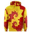 Flower Blossom Spiral Design  Red Yellow Men s Pullover Hoodie View1