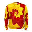 Flower Blossom Spiral Design  Red Yellow Men s Sweatshirt View1