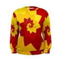 Flower Blossom Spiral Design  Red Yellow Women s Sweatshirt View1