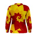 Flower Blossom Spiral Design  Red Yellow Women s Sweatshirt View2