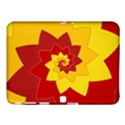 Flower Blossom Spiral Design  Red Yellow Samsung Galaxy Tab 4 (10.1 ) Hardshell Case  View1