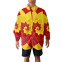Flower Blossom Spiral Design  Red Yellow Wind Breaker (Kids) View1