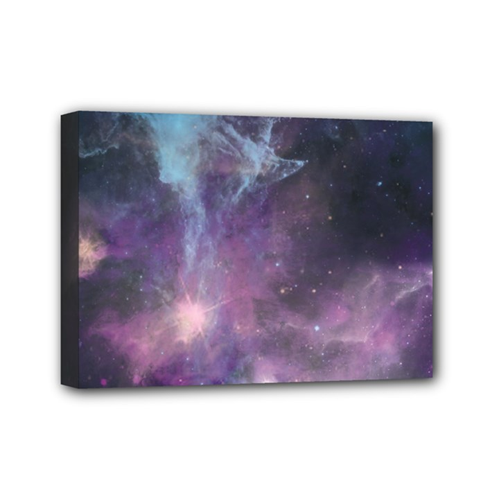 Blue Galaxy  Mini Canvas 7  x 5