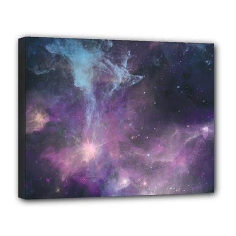 Blue Galaxy  Canvas 14  x 11