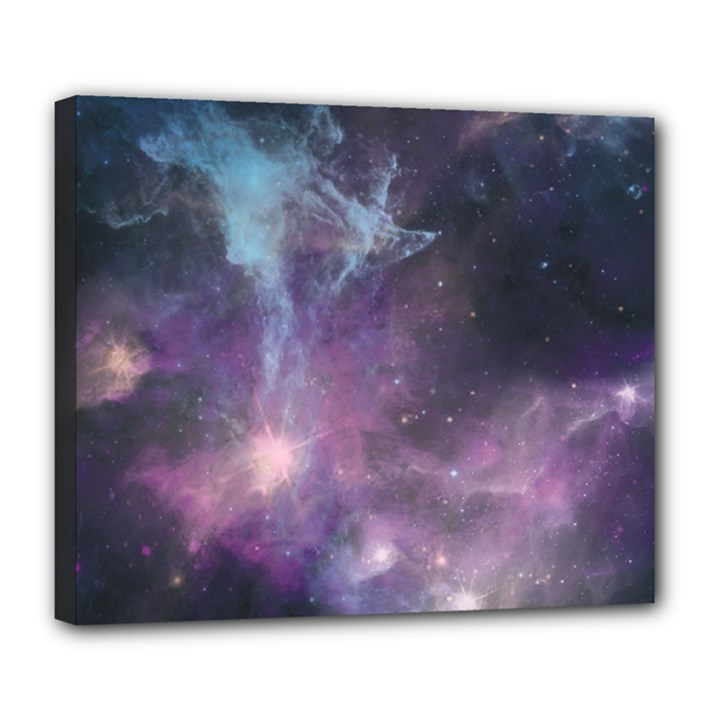 Blue Galaxy  Deluxe Canvas 24  x 20