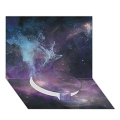 Blue Galaxy  Circle Bottom 3D Greeting Card (7x5)
